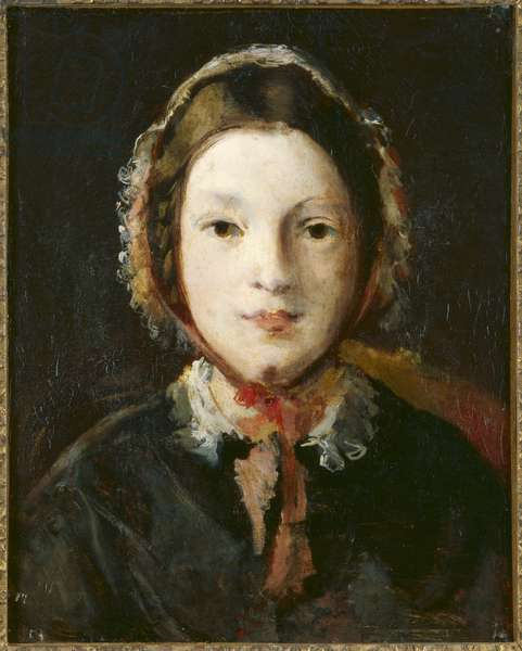 Young Woman with a Bonnet (oil on canvas)