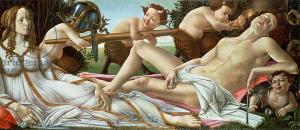 Venus and Mars, c.1485 (tempera and oil on panel)