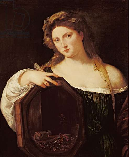Allegory of Vanity, or Young Woman with a Mirror, c.1515 (oil on canvas)
