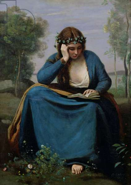 The Reader Crowned with Flowers, or Virgil's Muse, 1845 (oil on canvas)