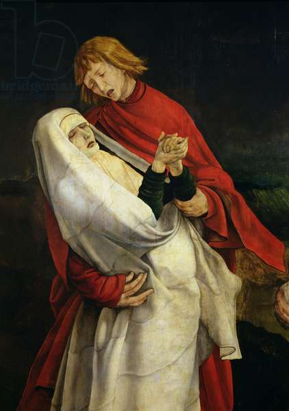 St. John the Evangelist and the Virgin, detail from the Crucifixion from the Isenheim Altarpiece, c.1512-16 (oil on panel)