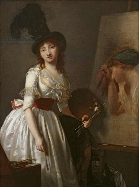 Portrait of a female painter, pupil of David (oil on canvas)