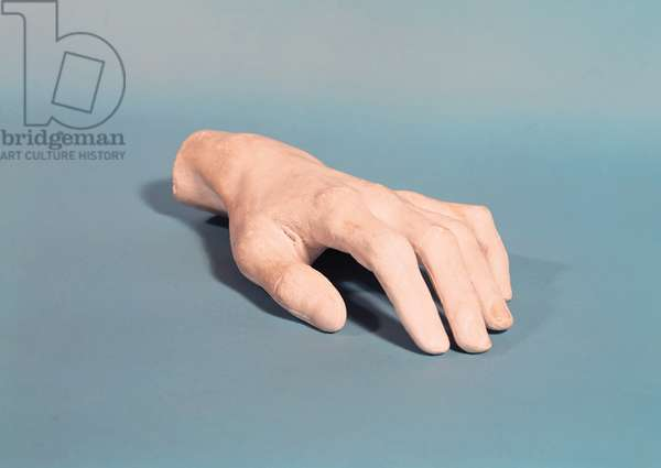 A cast of the hand of Frederic Chopin (1810-49) (plaster)
