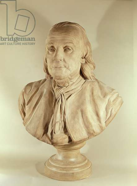 Bust of Benjamin Franklin (terracotta)