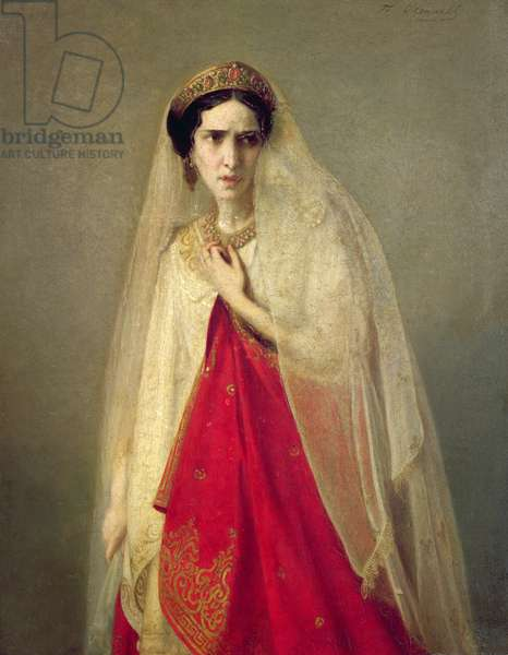 Portrait of Rachel (oil on canvas)
