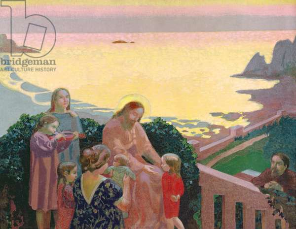 Christ with the Children, 1910 (oil on canvas)