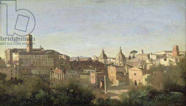 The Forum seen from the Farnese Gardens, Rome, 1826 (oil on canvas)