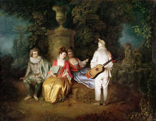 The Foursome, c.1713 (oil on canvas)