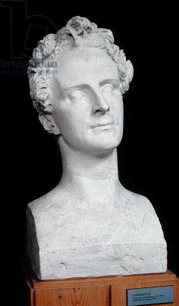 Bust of Alphonse de Lamartine (1792-1869) 1829 (plaster)
