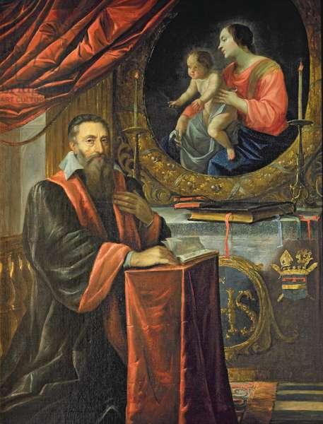 Portrait of Guillaume de Vair (1556-1621) (oil on canvas)