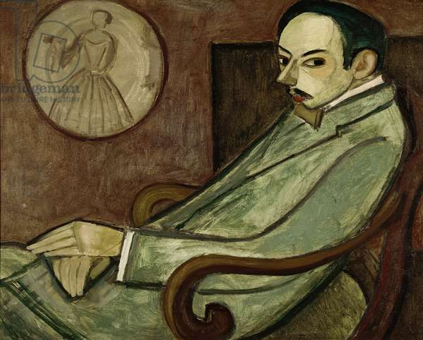 Portrait of Pierre-Jean Jouve (1887-1976) 1909 (oil on canvas)