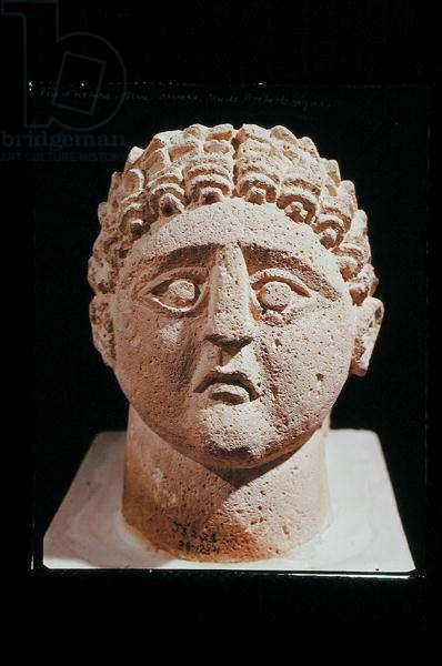Head of a man, from Khirbet et-Tannur (limestone)