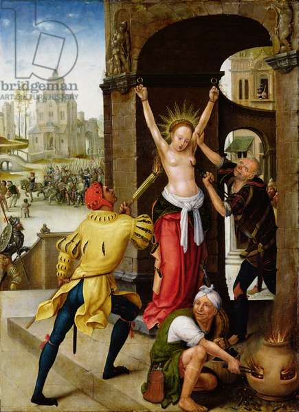The Martyrdom of St. Barbara, 1528 (oil on panel)