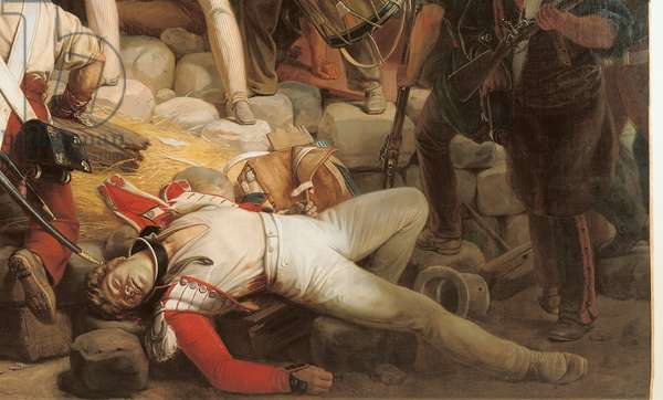 Fighting at the Hotel de Ville, 28th July 1830, 1833 (oil on canvas) (detail of 39427)