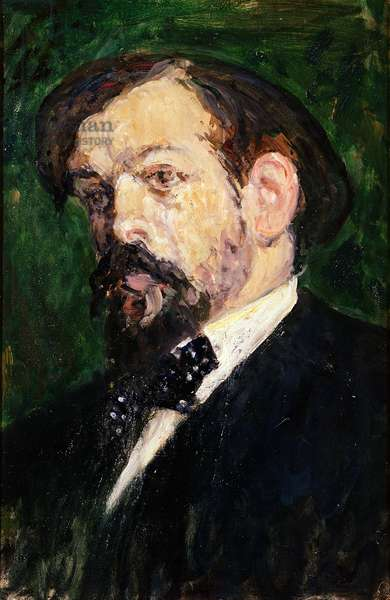 Portrait of Claude Debussy (1862-1918) (oil on canvas)
