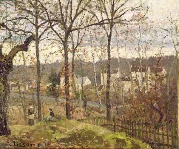 Winter Landscape at Louveciennes, c.1870 (oil on canvas)