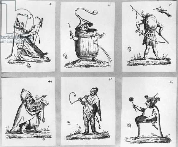 Illustration from 'Gargantua and Pantagruel', by François Rabelais (engraving)