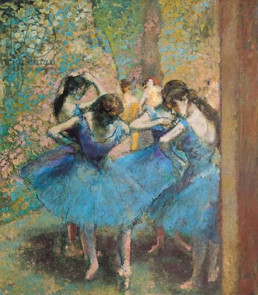 Dancers in blue, 1890 (oil on canvas)