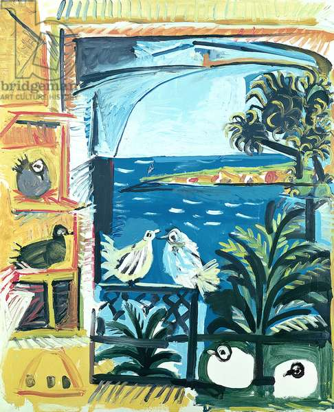 The Pigeons, Cannes, 1957 (oil on canvas)