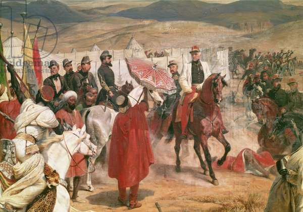 Marshal Thomas Bugeaud (1784-1849) and Colonel Joseph Vantini (Yousouf) (1808-66) During the Conquest of Algeria, 1846 (oil on canvas)