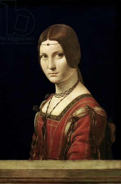Portrait of a Lady from the Court of Milan, c.1490-95 (oil on panel)