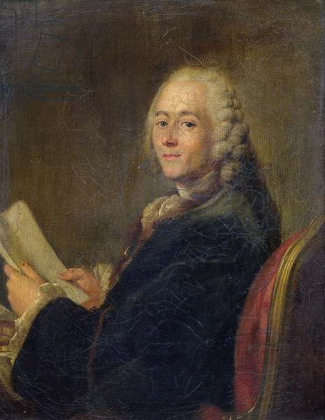 Jean le Rond d'Alembert (1717-83) (oil on canvas)
