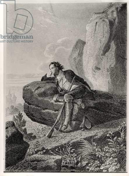 Daydreams, illustration from 'Memoires d'Outre-Tombe' by Francois Rene (1768-1848) Vicomte de Chateaubriand, c.1841 (engraving) (b/w photo)
