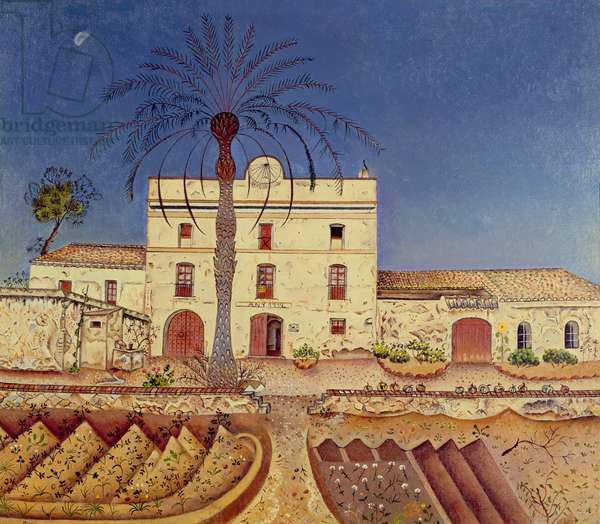 House with Palm Tree, 1918 (oil on canvas)