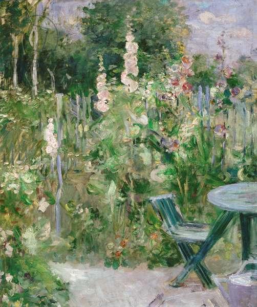 Roses Tremieres (Hollyhocks), 1884 (oil on canvas)