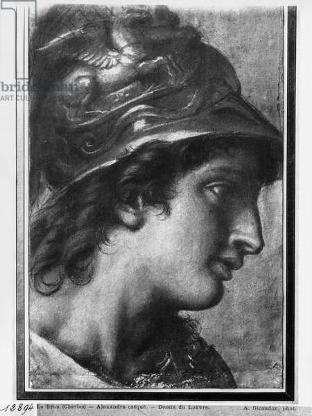 Alexander the Great, study for the painting 'The Tent of Darius' by Charles Le Brun in Versailles (pastel on beige paper)