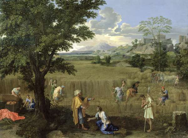 Summer, or Ruth and Boaz, 1660-64 (oil on canvas)