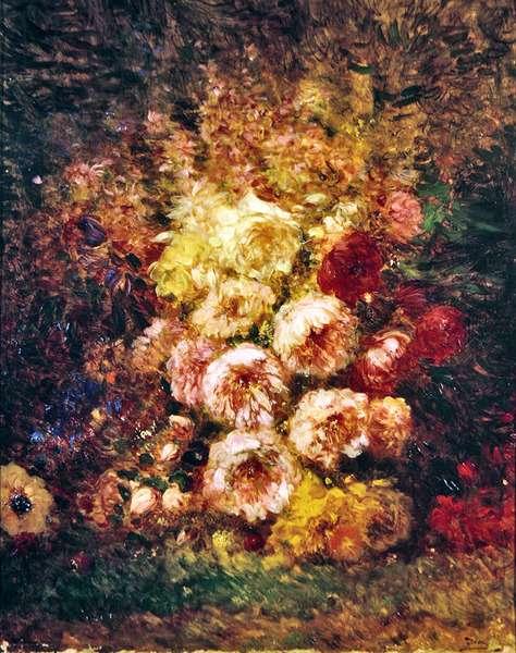 Paeonies (oil on canvas)