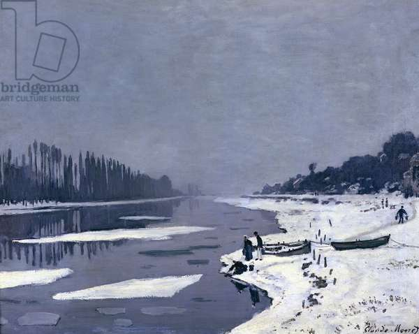 Ice floes on the Seine at Bougival, c.1867-68 (oil on canvas)