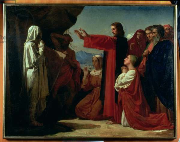 The Raising of Lazarus, 1857 (oil on canvas)