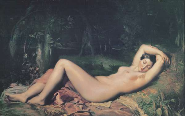 A Sleeping Nymph, 1850 (oil on canvas)