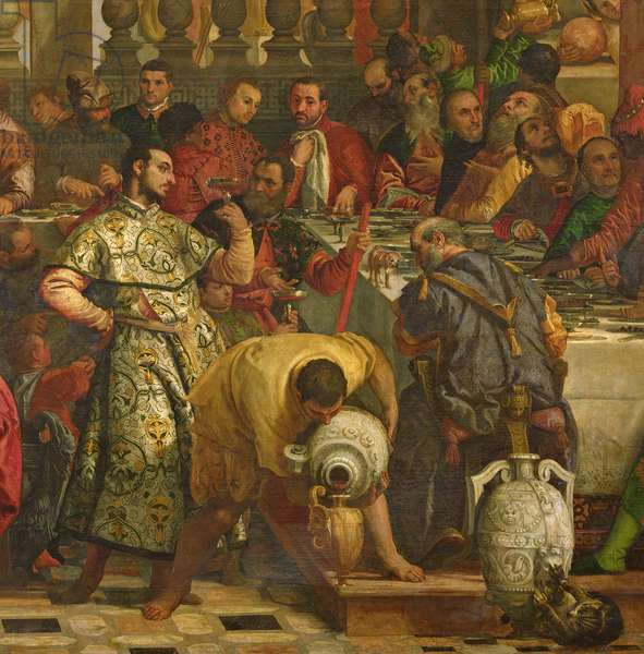 The Marriage Feast at Cana, c.1562 (oil on canvas) (detail of 158295)