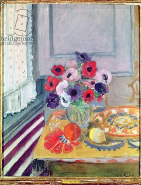 Still Life with Anemones, 1924 (oil on canvas)