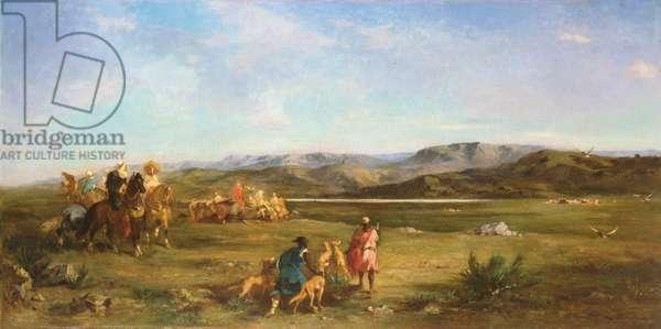 Gazelle Hunt in Chott el-Hodna, 1856 (oil on canvas)