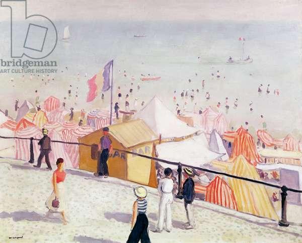 Summer, the Beach at Sables d'Olonne, 1933 (oil on canvas)