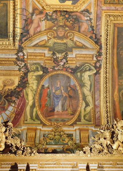 Ambassadors Arriving from all Corners of the Earth, ceiling painting from the Galerie des Glaces