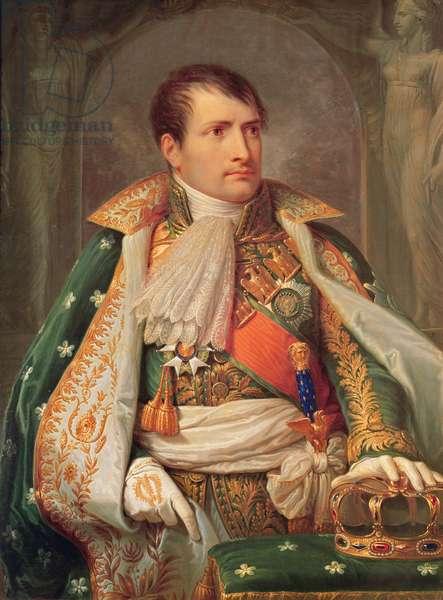 Napoleon I (1769-1821) King of Italy, c.1805-10 (oil on canvas)