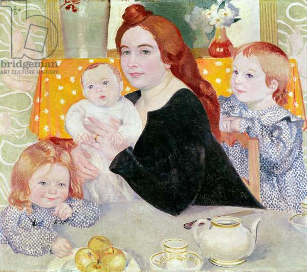 Large Family Portrait in Blue and Yellow, 1902 (oil on canvas)