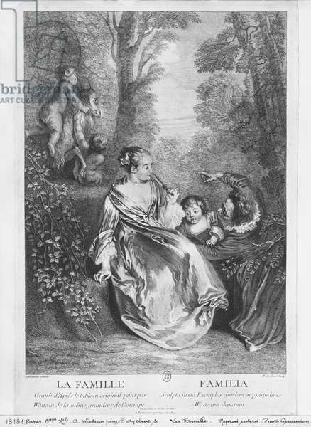 The Family, engraved by Pierre Aveline (c.1656-1722) (engraving)