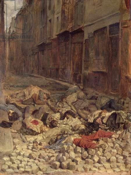 Barricade in the Rue de la Mortellerie, June 1848  (Memory of Civil War) 1849 (oil on canvas)