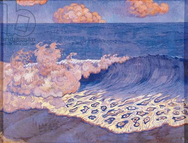 Blue seascape, Wave Effect, c.1893 (egg tempera on canvas)