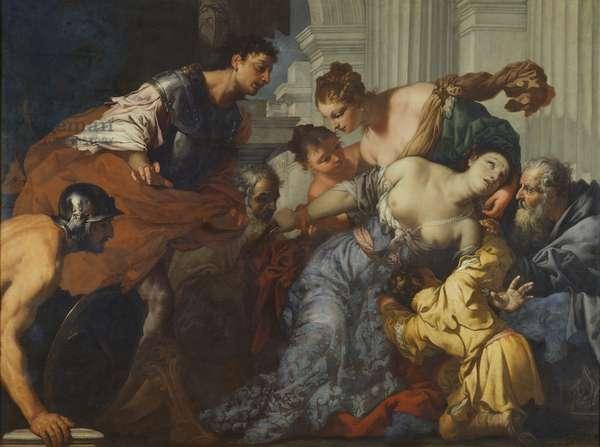 The Death of Lucretia (oil on canvas)