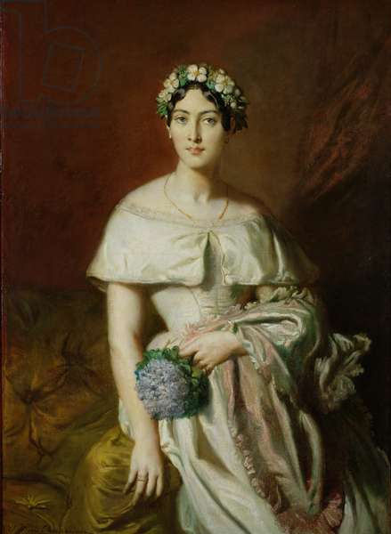 Mademoiselle Marie-Therese de Cabarrus, 1848 (oil on canvas)