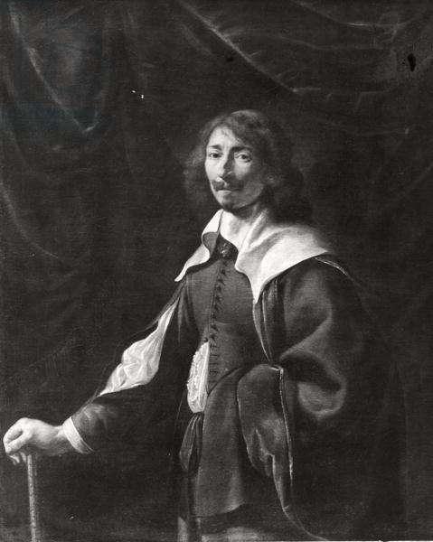 Portrait of a Man (oil on canvas) (b/w photo)