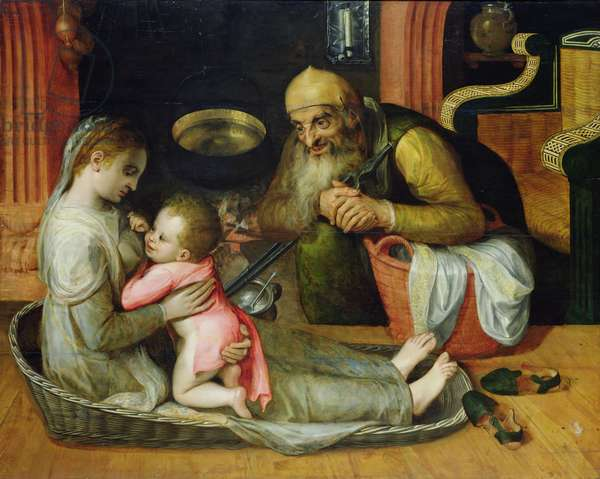 The Holy Family, c.1554 (oil on canvas)