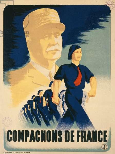 Poster for the Compagnons de France, 1939-35 (colour litho)